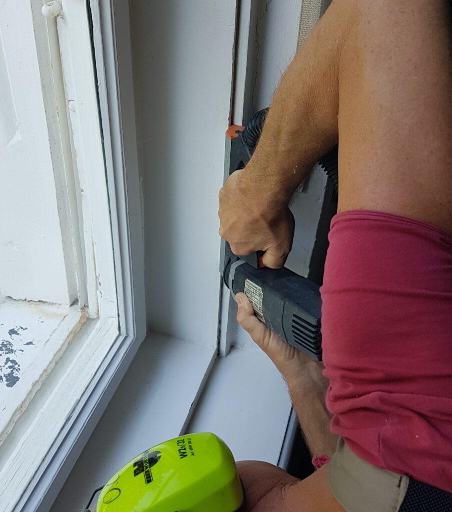 (nachträgliches) Einfräsen von Dichtungen in Holz – Fensterstoß